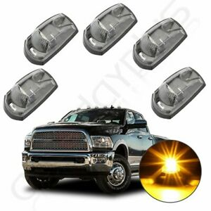 5x Led Amber Cab Marker Roof Running Light For 2017 2019 Ford Super Duty