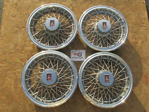 1981 88 Oldsmobile Cutlass 14 Wire Wheel Covers Hubcaps Set Of 4 Solid Band
