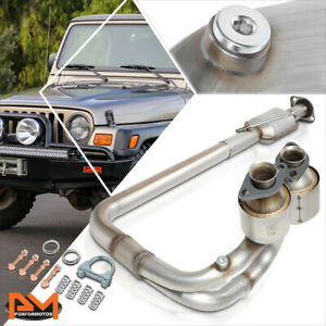 For 04 06 Jeep Wrangler 4 0l Direct Replace Catalytic Converter Exhaust Y Pipe