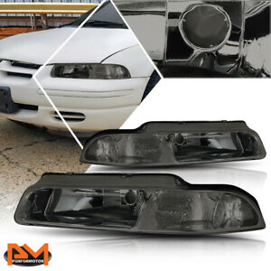 For 95 00 Chrysler Cirrus Dodge Stratus Headlight Lamp Smoked Housing Clear Side