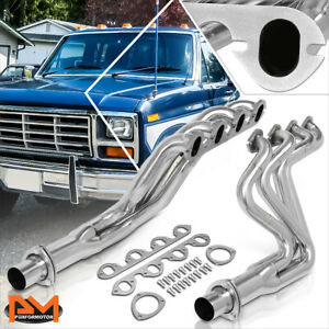 For 83 87 Ford F250 f350 7 5 V8 Stainless Steel Long Tube 2x4 1 Exhaust Header