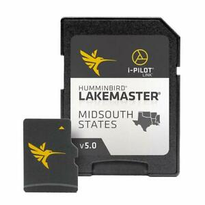 Humminbird LakeMaster Mid-South States Edition Digital GPS Lake Maps  Micro S...