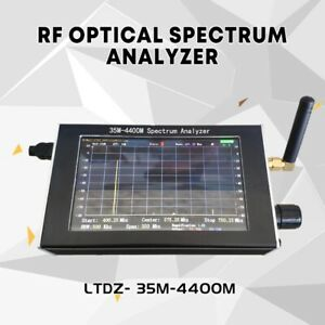 Usb 35 4400m Rf Optical Spectrum Analyzer With Tracking Source Module lcd case D