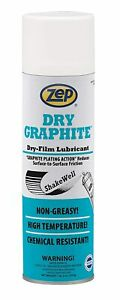 Zep Dry Graphite Lubricant 18 Ounce 16401 case Of 12 Coats Metal And Plastic