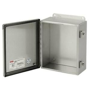 Hoffman Stainless Steel Electrical Enclosure Indoor outdoor Box 8x6x4in New