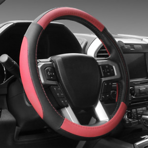 Seg Direct Black And Red Leather Steering Wheel Cover f 150 Tundra Range Rover