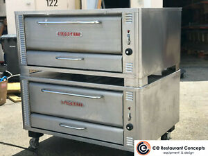 Blodgett 1048 Double Two Section Double Stacked Deck Pizza Oven