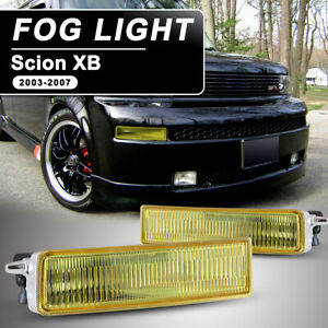 Fits 04 06 Scion Xb Fog Lights Yellow Lens Pair Replacement Lamp With Switch