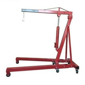 New Steel 2ton Engine Motor Hoist Stands Cherry Picker Shop Crane Lift Foldable