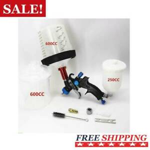 Mini Hvlp Spray Gun Kit 1 0mm Nozzle With Paint Mixing Cup And Pps Cup Adapter