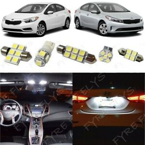 White Led Lights Interior Package Kit Fits 2010 2017 2018 Kia Forte Tool Kf1w