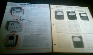 2 Triplett Test Equipment 1953 1956 Brochures Tube Oscilloscope Multi Generator