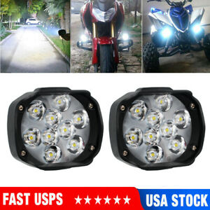 Motorcycle Led External Spot Light Fog Lamp For Scooter Atv Headlight Universal