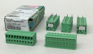 Lot Of 50 Phoenix Contact 1700309 Pcb Terminal Block Front 2 5 v sa10 ex