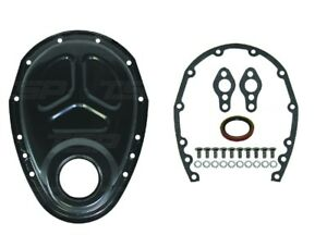 Black Timing Chain Cover Kit Small Block Chevy Sbc 283 327 305 350 400 Gen I