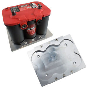 Optima 34 78 Battery Aluminum Hold Down Tray Bracket Relocation Red Yellow Top
