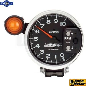5 Pedestal Tachometer 10 000 Rpm Memory Shift Light Auto Gage Black