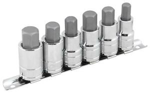 Socket Set Allen Bits 1 2 Drive 3 8 1 2 9 16 12mm 14mm 17mm Set Of 6