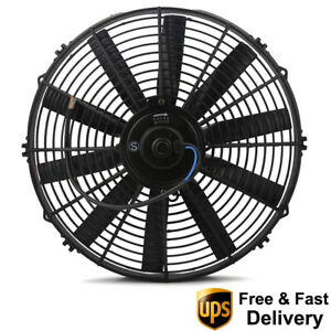Universal 14 Inch Slim Fan Push pull Electric Radiator Cooling Engine Kit Truck