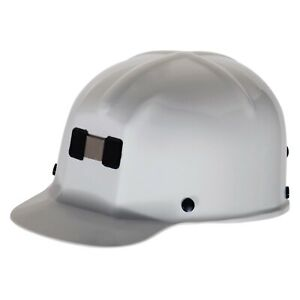 Comfo cap 6 1 2 To 8 Polycarbonate White Cap Style Hard Hat With 4 Point