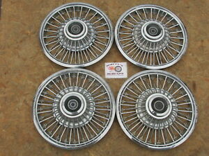 1967 1968 Mercury Cougar Comet 14 Wire Wheel Covers Hubcaps Set Of 4