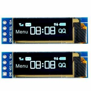 2 Pcs 0 91 Iic I2c Blue Oled Lcd Display Diy Module Dc3 3v 5v For Pic Arduino