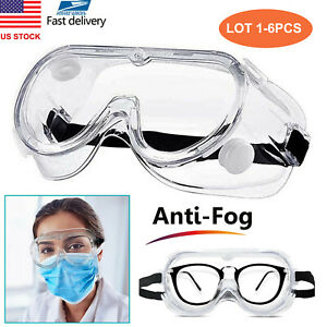 Anti Saliva Safety Glasses Goggles Eye Protection Work Anti Dust Adjustable Lot