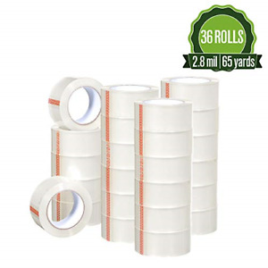 Heavy Duty Clear Packing Tape 2 8 Mil 1 88 X 195 Feet Big 36 Rolls Moving shi
