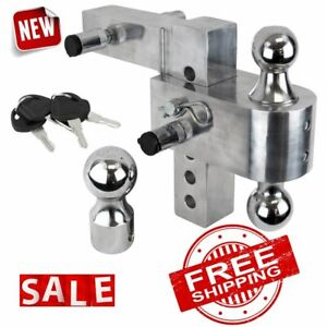 Trailer Tow Hitch Ball Mount Receiver Adjustable Drop Heavy Duty Truck Rv Towing