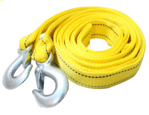 Heavy Duty 3 Tons Car Tow Rope Cable Towing Strap With Hooks For Emergency