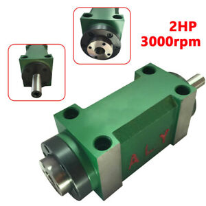 Mt2 5 bearing Power Milling Head Drilling Spindle Unit 2hp Morse Taper 2