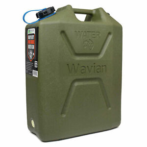 Water Jerry Can By Wavian 5 Gallon Heavy Duty Olive Drab Plastic Bpa Free