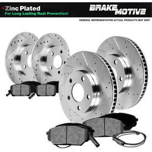 For 1995 1999 Bmw 318ti Front rear Drill Slot Brake Rotors Metallic Pads