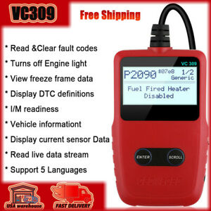 Universal Car Code Reader Obd2 Automotive Engine Fault Code Scan Diagnostic Tool