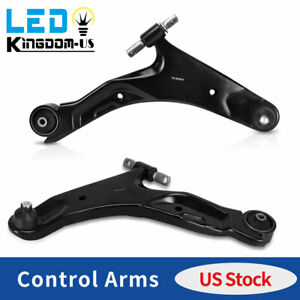 2x Front Lower Control Arms W ball Joints Bushing For Hyundai Sante Fe 2001 2006