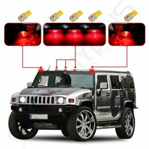 5 Red Cab Marker Top Light Lens 5x T10 6 5730 Warm White Led For 03 09 Hummer
