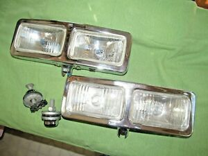 Vintage Rally Brand Driving Lights Pair Of Dual Bulb Lights See Description