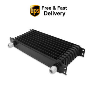 10 Row 10an Powder Coated Aluminum Black Engine Transmission Racing Oil Cooler