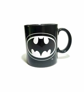 Vintage BATMAN Coffee Mug Cup by Applause TM & DC Comics Black/white NICE
