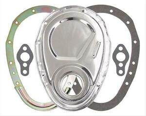 Trans Dapt 8909 Timing Cover 2 Piece Steel Chrome Plated Chevy Small Block Each