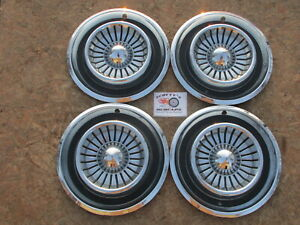 1958 Chrysler New Yorker Fifth Avenue 14 Wheel Covers Hubcaps Set Of 4