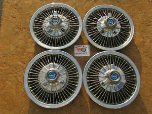 1966 67 Ford Mustang Fairlane Falcon 14 Wire Spinner Wheel Covers Hubcaps 4