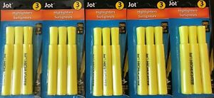 Jot Highlighters 3 Pack Yellow Lot Of 5 Sets
