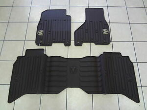 13 18 Dodge Ram Mega Cab Slush Weather Mats Front Rear Canyon Brown Mopar Oem