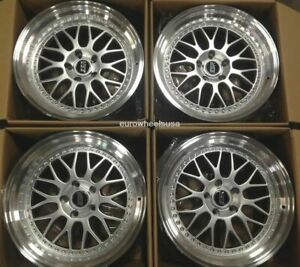 Esr Sr05 18x8 5 5x100 30 Silver Wheels For Scion Tc Xd Brz Impreza 18 Rims Set