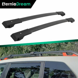2 Pcs Black Cross Bars Fit For Subaru Forester 2014 2021 Luggage Roof Rail Racks