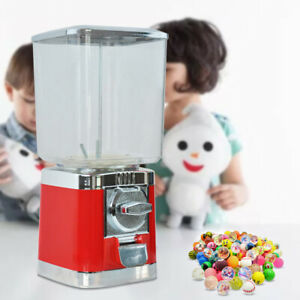 Commercial Candy Bulk Vending Machine Gumball Canister Elastic Ball Dispenser