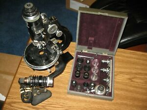 Vintage Ao Spencer Microscope Polarizing Petrographic Geological W Case Of Lens