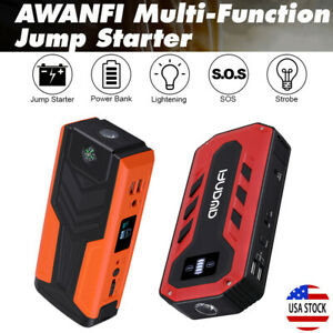 800a 1200a 12v Car Vehicle Jump Starter Booster Battery Charger Usb Power Bank