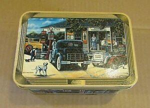 2003 Coca Cola 1930's Gas Station Cars General Store Scenes 3x4x6 Tin FREE S/H